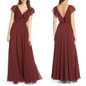 Jenny Yoo Faye Ruffle Wrap Dress